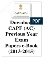 Download UPSC CAPF AC Previous Year Exam Papers e Book 2013 2015 Www.iasexamportal.com