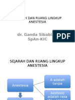 Sejarah Anastesi