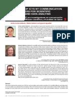 Adopción de TIC por investigadores en comunicación para la difusión científica y el análisis de datos