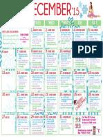 12 December 2015 Workout Calendar Natalie Jill