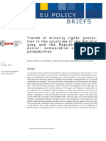 Trends of minority rights' protection in the countries of the Adriatic area and the Republic of Macedonia