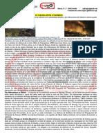 Los incendios forestales ponen en máxima alerta a Cantabria