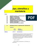 Chapter 4 - Equipo, Utensilios y Mantelería