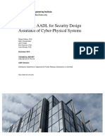 Extending AADL for Security Design Assurance of Cyber-Physical Systems