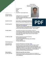 Curriculum Vitae - Muhammad Asim - Master Format