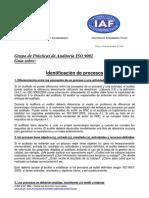 Identificacion de Procesos Iaf
