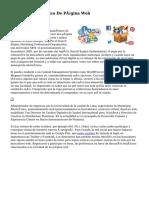 Desarrollo Y Diseño De Página Web
