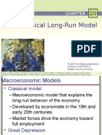 Principles of Economics- The Classical Long Run Model
