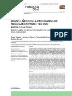 Mindfulness en Patologia Dual