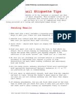 101 E Mail Etiquette Tips