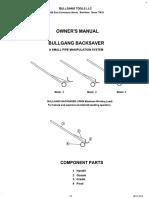 08 12 13  1000 lb bullgang backsaver manual   disclaimers  rev 4