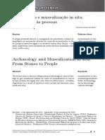 Arqueologia e musealização in situ