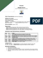 Prof Pradip Dutta_Resume