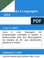1- Introdução à Linguagem Java