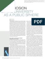 Sit - Erosion of Unviersity as Public Sphere