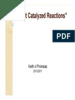 Cobalt Catalyzed Reactions