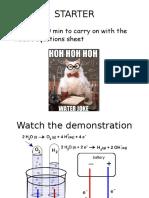 Intro to Electrolysis
