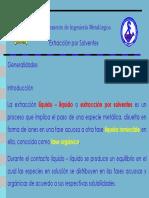 Extraccion - Solventes (liquido-liquido)