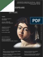 Shakespeare et la voix - Voice in Shakespeare's Plays