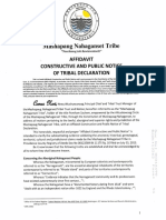 Mashapaug Nahaganset Tribe Tribal Declaration