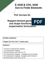 Isoparametric Fomulation