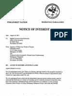 RI Governor - Notice of Interest