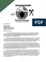 Notice of Interest - Senator Reed