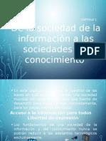 De Las Sociedades información a las sociedades del conocimiento