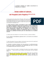 LO QUE USTED DEBE SABER DEL ORIGEN DE CANCER Y MEDIDAS PREVENTIVAS JOHN HOPKINS HOSPITAL 080511