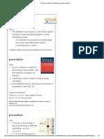 Procedure Dictionary Definition _ Procedure Defined