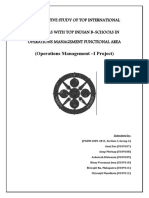 operations management area curriculum comparative study report between Indian and foreign universities