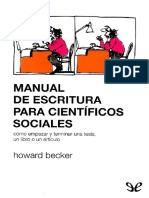 Becker, Howard (1986) - Manual de Escritura Para Científicos Sociales