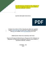 Proposta de Pesquisa de Mestrado Para o Programa de Pós