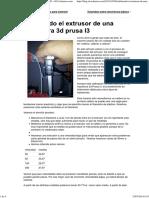Calibrando El Extrusor de Una Impresora 3d Prusa I3 « El Cacharreo