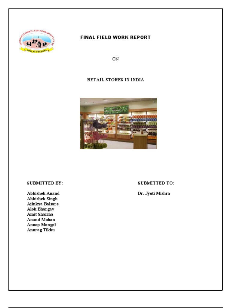 Project report on business plan