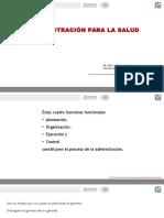 El Proceso Administrativo en Los Sistemas de Salud