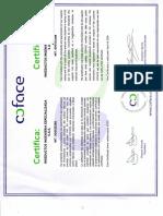 Certificado Coface (Valido Hasta Abril de 2.016)