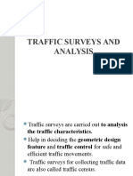 Traffic Surveys and Analysis