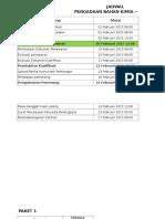 Jadwal - IPAL Paket 1