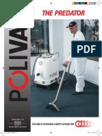 Polivac Predator Carpet Extractor | Sweepers Australia