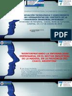 Innovación Tecnológica y Conocimiento Como Herramientas Del Contexto, Fernández j.