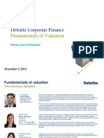 Deloitte Valuations Workshop