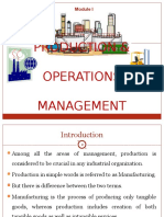 Production n Operations Introduction