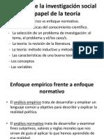 Diapositivas 1 La Logica de La Investigacion Social Enfoque Teoricos y Metodologicos