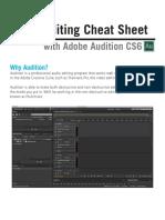 Audition Cheat Sheet.