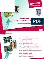 Delivering a Football and Mental Health Project Best Practice Guide