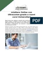 Studiare Online Con Ultracomm