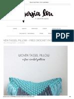 Woven Tassel Pillow – Free Crochet Pattern