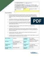 Business Development Manager Job Description Business Development Manager %7c Job Description Template En