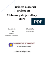 Businese Research Project on Malabar Gold